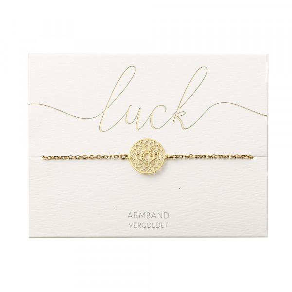 Armband - vergoldet - Mandala des Glücks