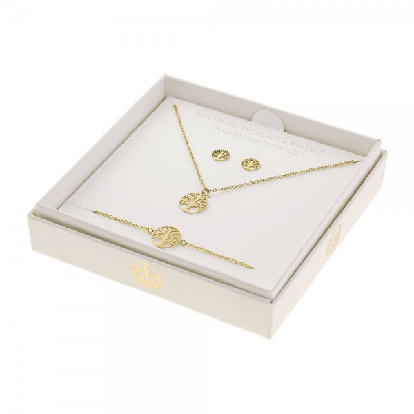 Gift Set Jewellery Gold-Plated - Tree Of Life