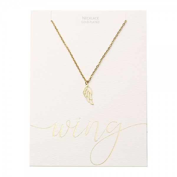 Necklace - Gold-Plated - Angel Wing