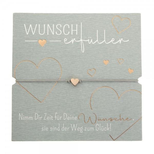 Bracelet - Wunscherfüller - Heart - Rose Gold Plated