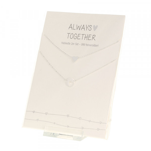 Necklace - Always Together - Silver-Plated