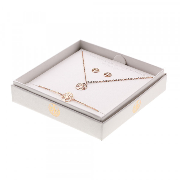 Gift Set - Jewellery - Rose Gold Plated - Tree Of Life