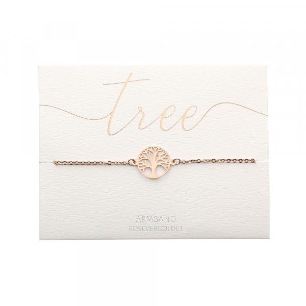 Bracelet - Rose Gold Plated - Tree Of Life