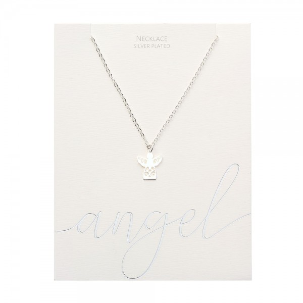 Necklace - Silver-Plated - Angel