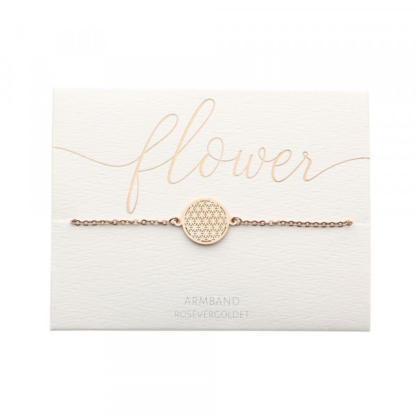 Bracelet - Rose Gold Plated - Flower Of Life