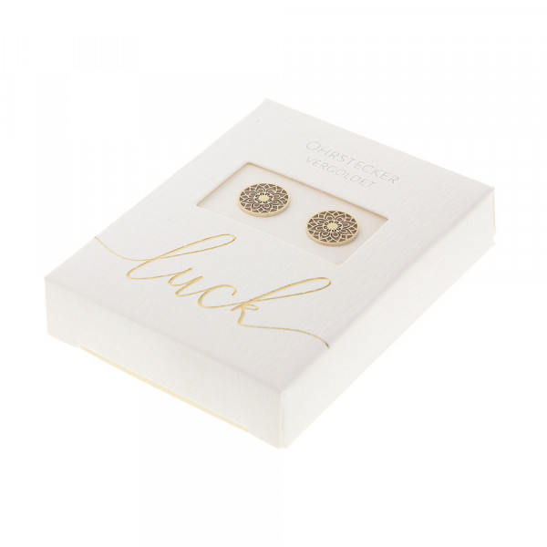 Studs Gold Plated - Mandala Of Luck