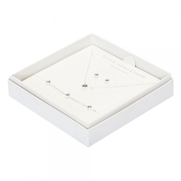 Gift Box - Sparkle - Silver Plated - Crystal