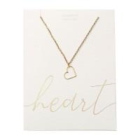 Halskette - vergoldet - Herz