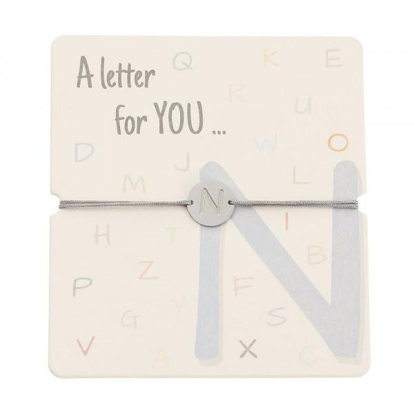 Armband mit Buchstaben - N