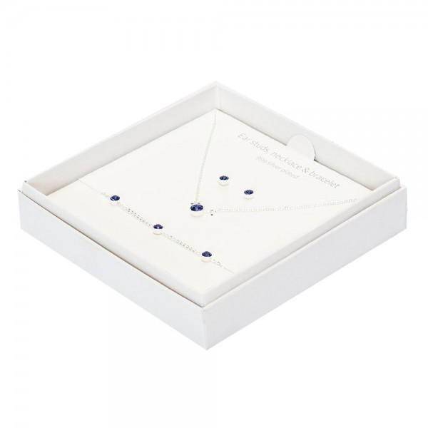 Gift Box - Sparkle - Silver Plated - Dark Sapphire