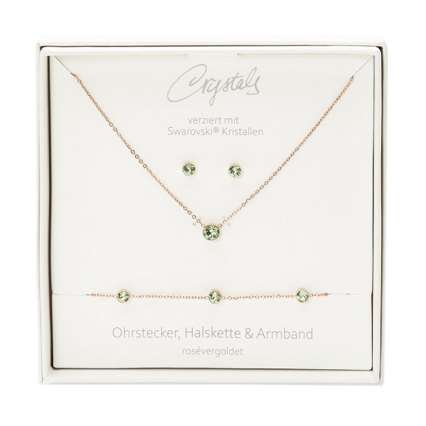 Gift Box - Sparkle - Rose Gold Plated - Peridot